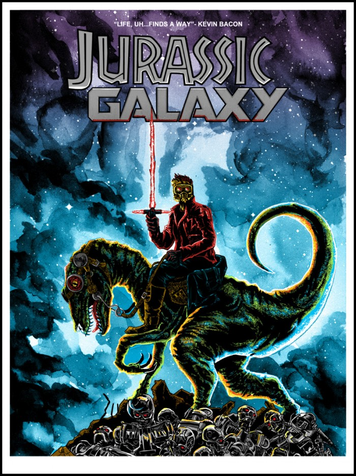jurassic galaxy 18x24 preview