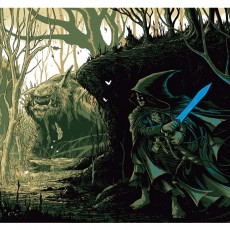 """Sting-the Orcblade"" Metallic Ink print by Mark Lone"