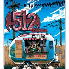 """512 Tacos"" by Doyle for Sally Centigrade- on sale FRIDAY"