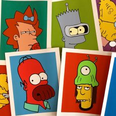 SIMPSORAMA! print series by Aye Jay!