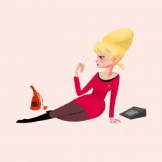 Space Girl Pinups! 5 print set By Nan Lawson!