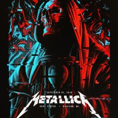 METALLICA- 9/2 Madison print by TRACIE CHING!