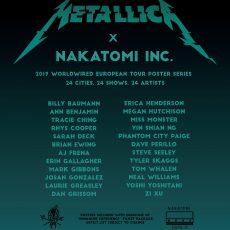 Metallica 2019 VIP tour poster series!
