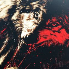 """""""Of Wolves and Man"""" Metallica art print by Tracie Ching!"""