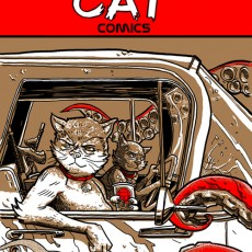 Bad Cat Comics- #1- back in print!