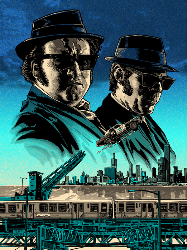BLUES BROTHERS print for Galerie F in Chicago! | Nakatomi, Inc