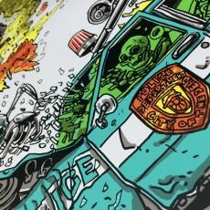 CAR CRASH CITY- Skrillex Poster and Art Print!
