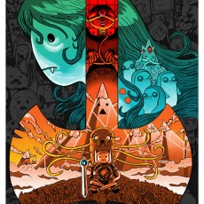 ADVENTURE TIME print-by Doyle for Galerie F and Cartoon Network!
