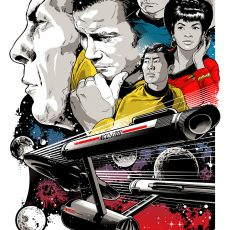 """Star Trek """"To Boldly Go"""" print by Josh Budich- on sale info!"""