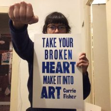 """TAKE YOUR BROKEN HEART…"" Letterpress for one penny!"