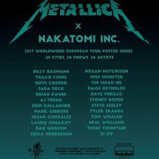 Metallica 2019 VIP tour poster series!